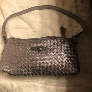 Elliott Luca silver metallic bag